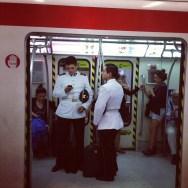 Marines en el metro de Santiago de   by Rafa Pérez chile, passengers,