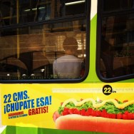 22 centímetros.¡Chúpate esa! Bus en Santiago  by Rafa Pérez passengers,