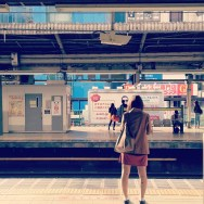 Waiting and expecting     by shakechan japan, jr, passengers, tokyo, train,