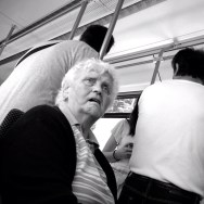 Untitled by Marta Pacheco bayern, iphone4s, iphoneadict, iphonegraphy, münchen, munich, passengers, streetphotography, tram, tramway,