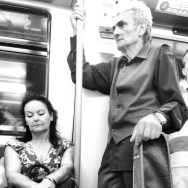 Flamenco guitarist at the subway. Madrid, Spain by zoltan_enevold blackandwhite, bnw, flamenco, galeria_mink, guitar, ilovemyfollowers, iphoneonly, metro, monoart, passengers, photographer, photography, shoutout, street, streetphotography, subway, tagsforlikes, tflers, train, transport, tren, tube, tweegram, webstagram, webstapick, woman,