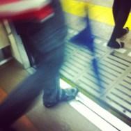 Síguela!     by Núria Rodríguez feet, metro, passengers, piessengers,