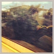 Riflessi di lettura...               by Federico Giusti book, cloud, color, fast, filter, finestrino, iphone4s, libro, passengers, photo, postproduzione, riflesso, scorre, train,