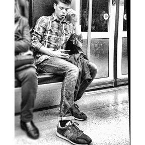 Untitled by Antonio Jiménez Lara madrid, metro, passengers,