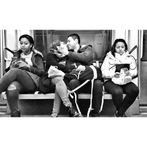 Nothing else matters by Godo Chillida barcelona, blackandwhite, bnw, bnw_life, bnw_society, bw, bw_lover, bw_photooftheday, bw_planet, couple, love, monochrome, passengers, streetphoto, streetphotography, streetphotography_bw, streetphoto_bw, subway, ubiquography,