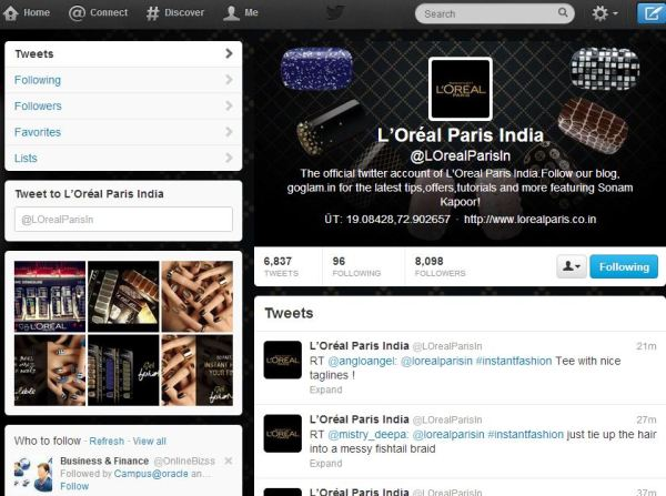The #InstantFashionFix twitter contest page...