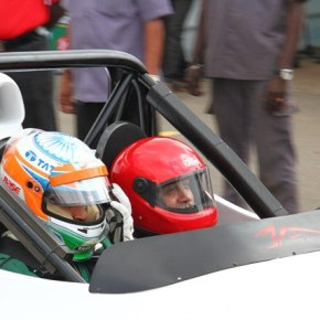 In Coimbatore with Narain Karthikeyan. A great drive – entry for Michelin Pilot Experience by Arvind Passey