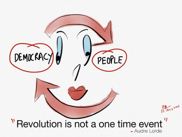 Revolution is not a one time event...