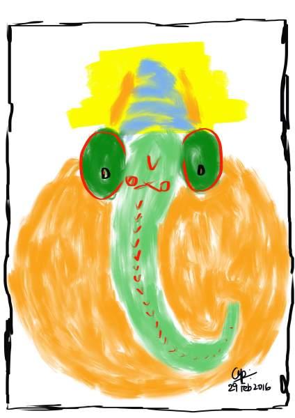 Art on my iPad_Arvind Passey_Ganesha interpreted