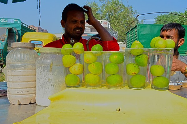 Vendors on the streets of Delhi - Mobile cold water and lemon-soda