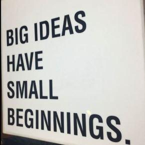 An idea is an enterprise