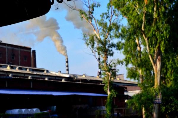 #TheRoyalReuvenation Journey to Namah Resorts. Polluting chimneys...