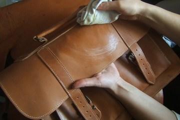 Блеск кожаных изделий