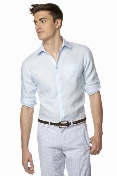 Comment s'habiller quand il fait chaud, homme chemise en lin celio