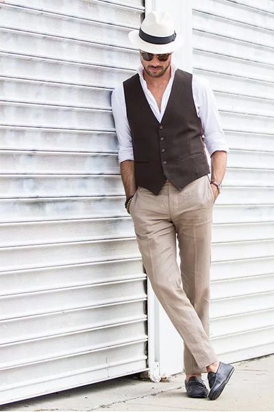 habiller en été pantalon en lin homme