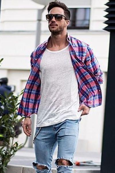 chemise en flanelle pour s'habiller en automne