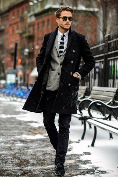 s'habiller en hiver quand il fait froid look homme