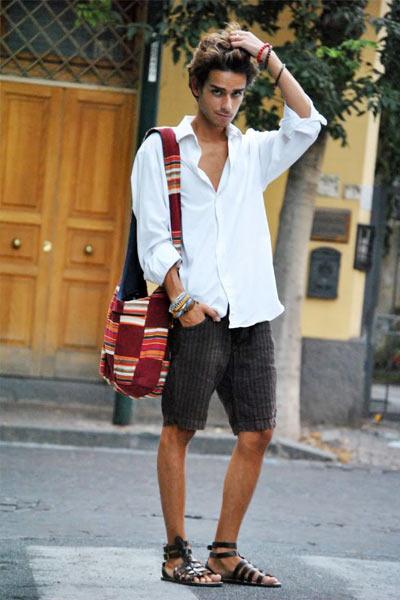 porter des sandales homme look bohème