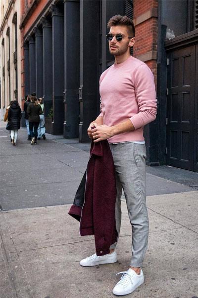pantalon gris assortir le haut