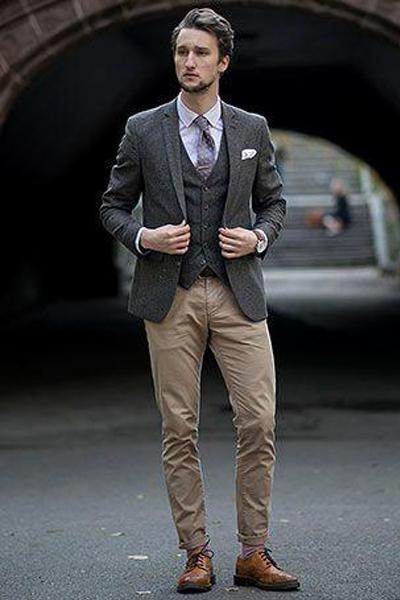 Comment Porter Un Pantalon Beige Homme -