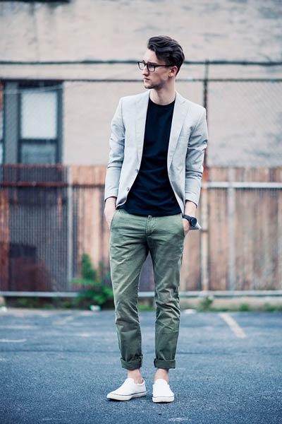 blazer pour s'habiller quand on est grand et mince