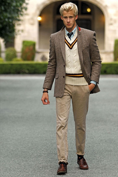 look preppy homme