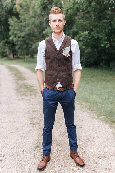 tenue homme mariage chempêtre