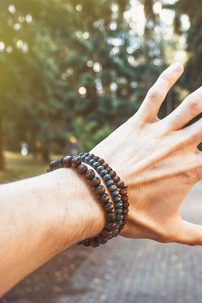 bracelet de perles homme
