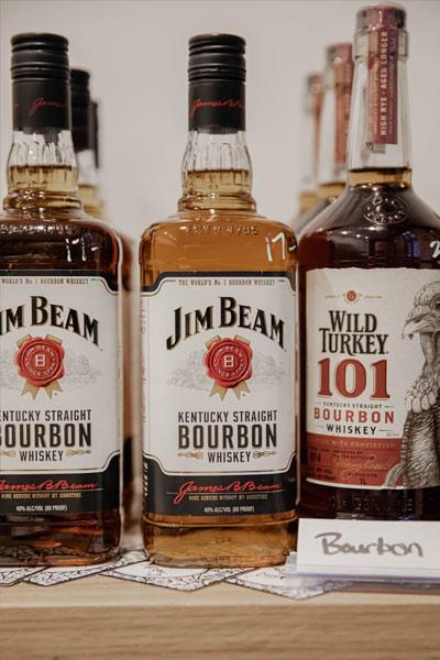 bouteilles de bourbon