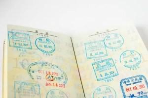 パスポートのスタンプ