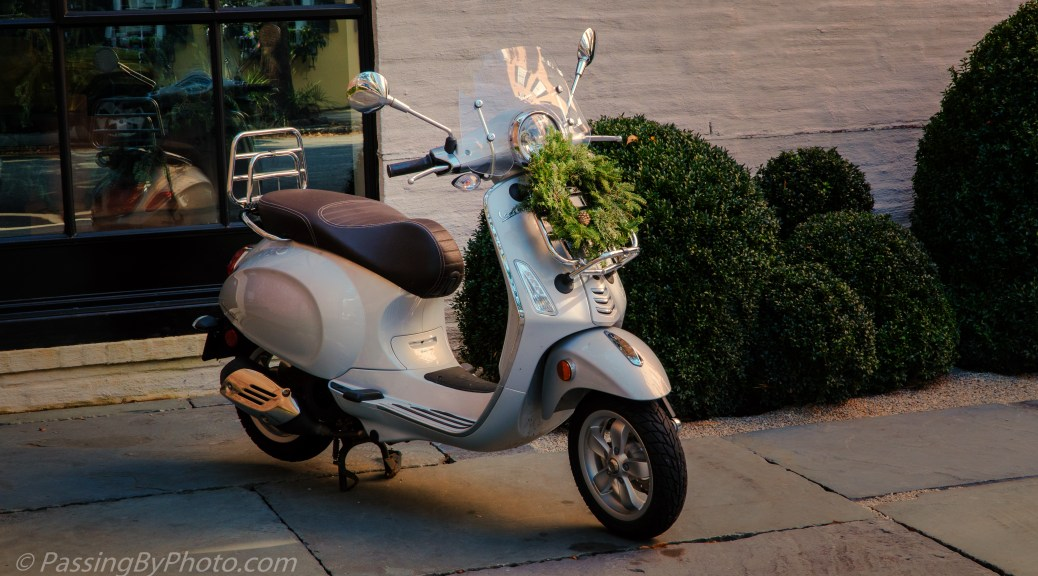 Vespa with Holiday Wreath