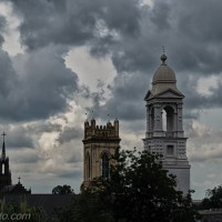 Charleston Churches on a Stormy Afternoon