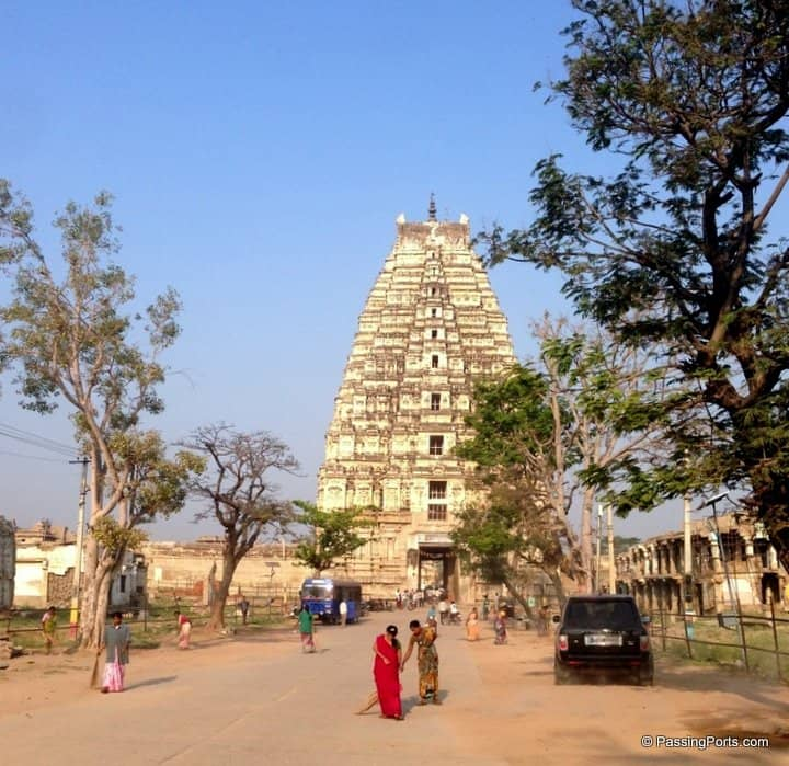 Famous temple in Hampi