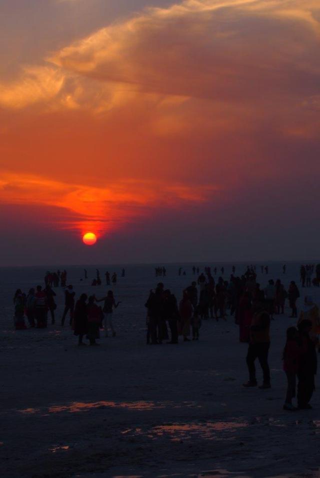 Sunset in Rann of Kutch