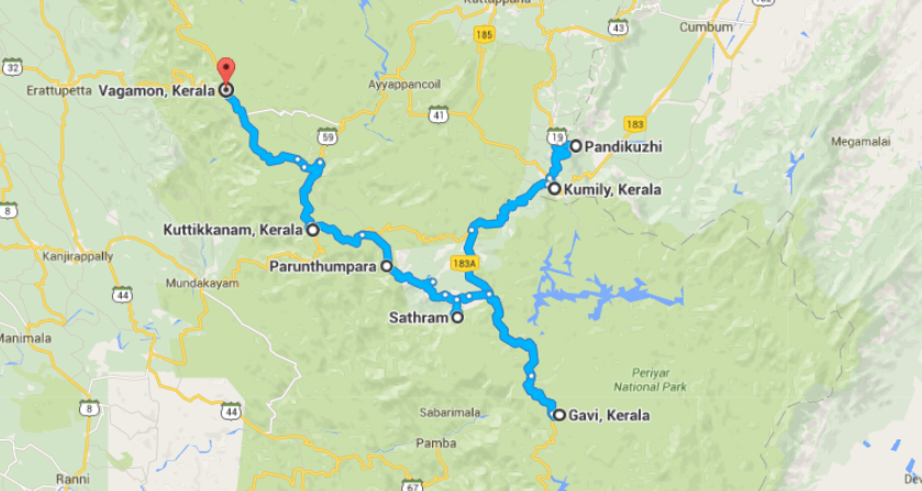 Thekkady nearby places