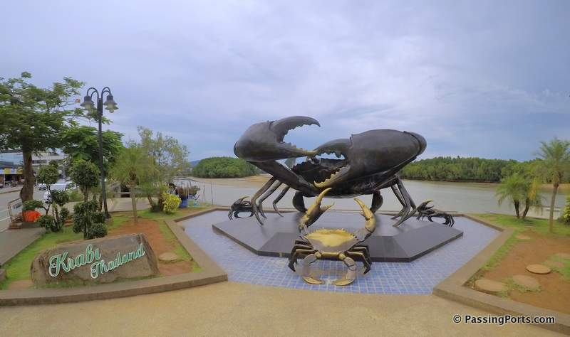Crabs symbol in Krabi Town