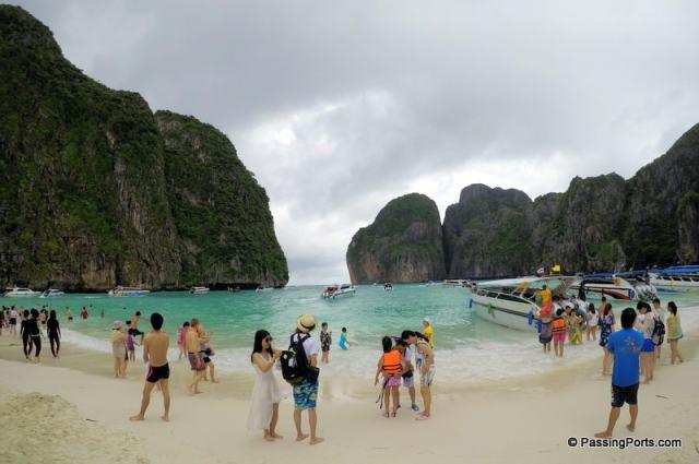 Maya Beach In Krabi , Thailand