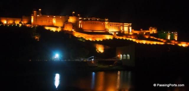 Amer Fort at night