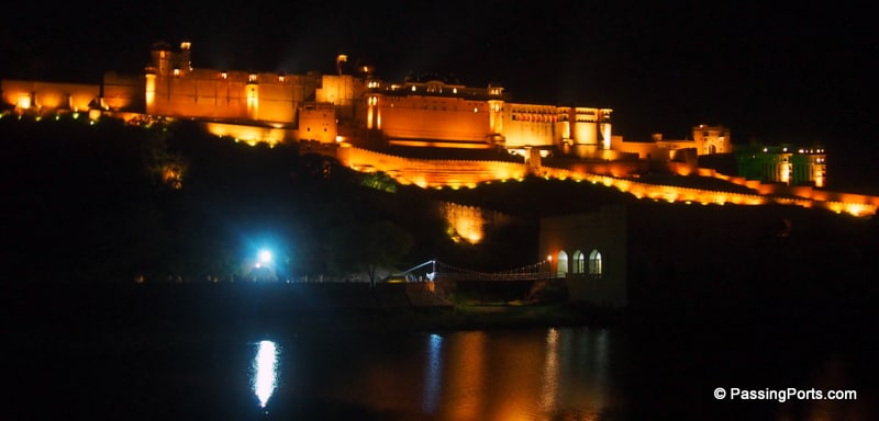 Amer Fort at night