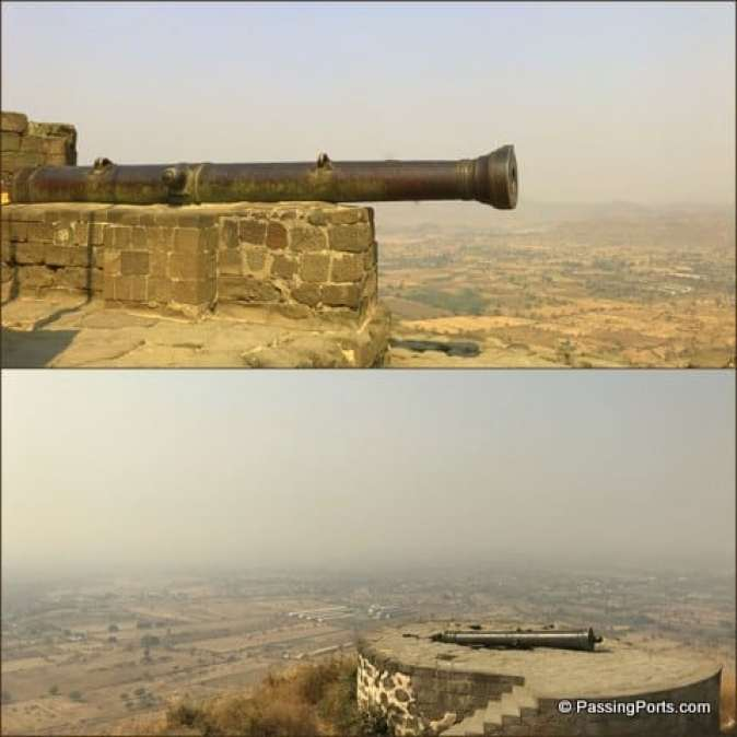 Cannons inside the fort
