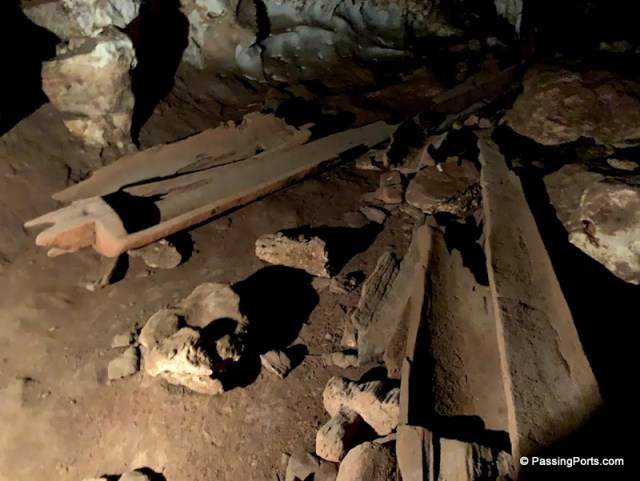 Interesting coffin in Tham Lod Caves