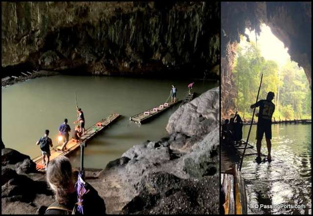 Bamboo raft in Cave
