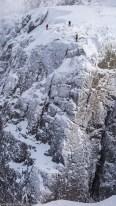 Des cordées dans Gargoyle wall