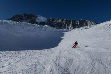 Glacier des Rognons, sous l'oeil de la Verte