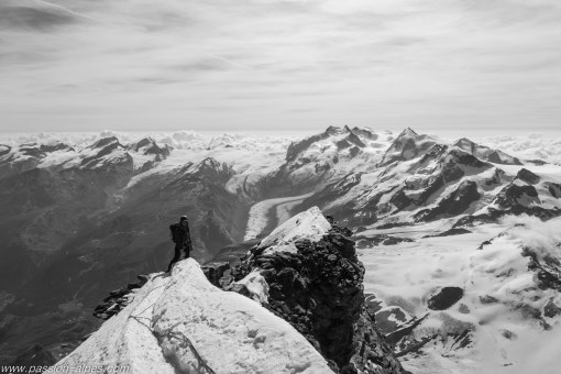 Traversée vers le sommet suisse