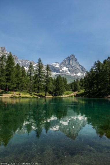 Baignade au Lac Bleue