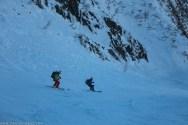 Ski encordé dans le couloir pour Elisabeth