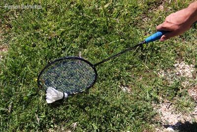 ramasser volant badminton