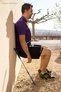 exercices physiques badminton chaise