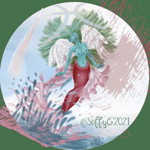 Illustration signe poisson du zodiaque